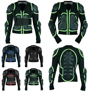 Kids Motorcross ATV Protective Jacket Body Armour Motorbike Chest Back Protector