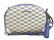 Michael Kors Studio Ginny Medium Messenger Bag Natural Electric Blue