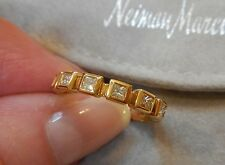 Dazzling 18K Gold Diamond stackable ring/band by Doris Panos