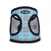 Bark Appeal EZ Wrap Plaid Mesh Dog Step In Harness Aqua Sizes XXS-XXL