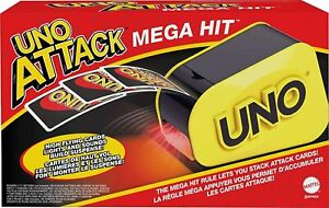 Mattel UNO Attack Electronic Family Card Game Mega Hit Launcher Lights Sounds