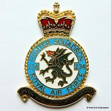 RAF 234 Squadron DANBURY MINT Blank Badge -24ct Gold Plate 1970s Royal Air Force