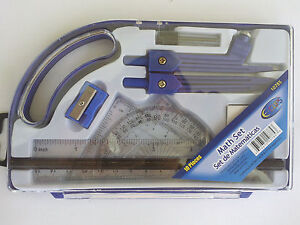 10 Piece Compass Protractor Triangle Ruler Set Math Drafting Drawing Geometry