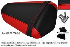 RED & BLACK CUSTOM FITS KAWASAKI NINJA ZX6 R 09-13 PILLION LEATHER SEAT COVER