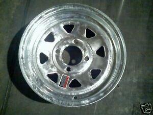 "13"" Galvanized Spoke Trailer Rim, Wheel Tire Assembly 4H 20224"