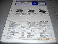 TELEFUNKEN Magnetophon starsound 201 201Ska C200 C200Ska C210 C210Ska Service Ma