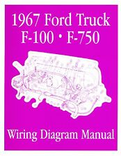 1967  FORD F100-F750 TRUCK WIRING  MANUAL