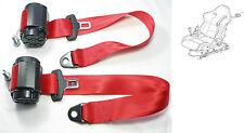 2 CINGHIA ROSSA FERRARI F 348, Ferrari F 355, New Red seatbelts FERRARI