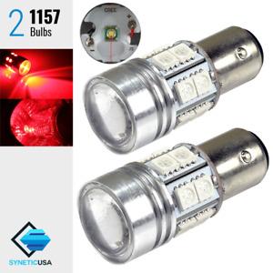 2x 1157 High Power Cree Red Brake/Stop/Tail LED Light Bulbs 2057A 2357NA 7528