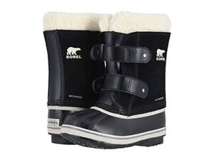 Sorel Toddler Unisex 1964 Pac Strap Snow Boots Black Size 4 NEW