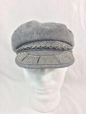 Classic Cotton Twill GREEK FISHERMAN Aegean CAP 7 1/4 M Hat Made in Greece Gray