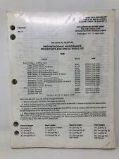 Tech Manual TM 9-2320-280-20P Truck Utility 1-1/4 Ton 4x4 M998 M1038 M966 1990
