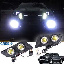 For 2015+ Ford Ranger T6 Facelift Matt Black Cover Super Led Fog Lamp Spot Light