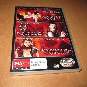 RESIDENT EVIL 1 / RESIDENT EVIL APOCALYPSE / RESIDENT EVIL EXTINCTION - 3 DVD R4