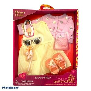 Our Generation Sunshine and Stars Doll Deluxe Outfit New! 18 Inch dress