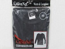 CottonNET Mens Thermal Waffle Knit TOP Underwear Long Johns Warm SIZE MEDIUM