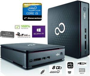 PC COMPUTER I5 SSD 128GB HDMI WI-FI SCUOLA UFFICIO MINI FUJITSU WIN10 SMART TV