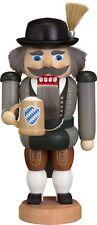"Handcrafted Erzgebirge wood Nutcracker Bavarian - made in Germany 7,8"""