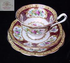 Royal Albert LADY HAMILTON Rare Avon Shaped 3 pc Trio EC England 1st c1940's