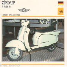 Scheda moto plastificata ZUNDAPP R 50/RS 50 - Moto da città - 1964