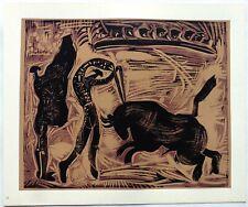 Pablo PICASSO LINOGRAVURE 1962 cercle d'art Les banderilles PI37