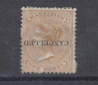 Mauritius QV 1878 1d Cancelled Inverted O/P SG57 Scarce MH J8352