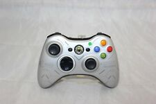 Halo Reach Limited Edition Xbox 360 Silver Controller Tested and Working