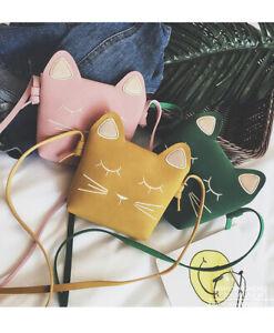 Mini Bags for Girls Messenger Bags Gift Kids Wallets Cat Kitty