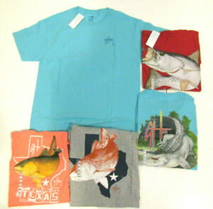 Guy Harvey Mens Short Sleeve T-Shirt Graphic Red Aqua Gray Coral M L XL 2XL