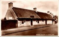 Vtg 1920's Burns' Cottage Alloway Ayr Scotland UK RPPC Real Photo Postcard