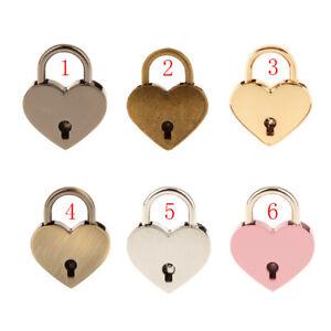 Multi Jewelry Box Lock Padlock Creative Heart Shaped Lock Luggage Lock