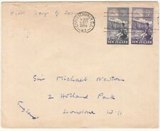 NZ: Health Stamps, FDC: Christchurch to Sir Michael Newton, London, 4 Oct 1954
