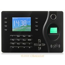 Fingerprint And Rfid Card Attendance Time Clock With Pc Softwaretcpipusb