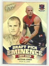 2013 AFL PRIME DRAFT PICK EMINENCE MELBOURNE DEMONS NATHAN JONES DPE61 CARD