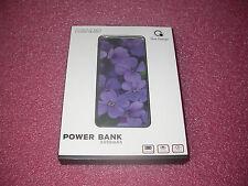 Que Design QUE-5000 Dual 2.4A USB Port 5000mAh Power Bank AC & DC input Flower