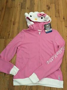Sanrio HELLO KITTY Ltd Ed Hoodsbee Zip Hoodie Sherpa Sweatshirt Jacket XXL - NWT