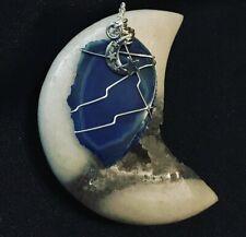 Pendant Blue Agate Slice