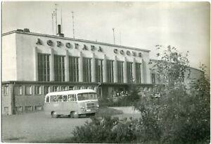 SOFIA Flughafen-Gebäude, Airport Building, Bulgarian Air Transport Autobus 50er