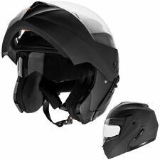 Casco Modulare Moto Omologato Doppia Visiera Integrale Nero Opaco CRUIZER