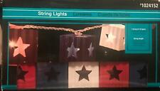String Lights MAGA Outdoor USA Red White Blue America Memorial 4th of July Party