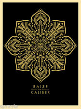 """""""RAISE THE CALIBER"""" by Shepard Fairey SIGNED & NUMBERED  *SOLD OUT* OBEY"""