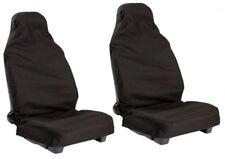 BMW E39 5 Series (96-03) Frente Negro Par Protectores de conjunto de Cubierta de asiento de coche