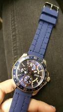 Men's Guess Blue Silicone Bracelet Watch U0798G2