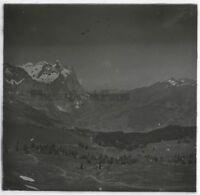 Suisse Alpes Montagne Foto G7 Placca Da Lente Stereo Vintage