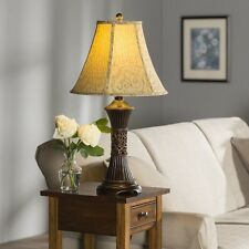 Table Lamps Set Of 2 Bedroom Living Room Rustic Decor Bell Shade Antique Finish
