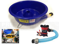 BLUE BOWL PAN GOLD Prospecting CONCENTRATOR + How 2 DVD + PUMP