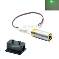 INDUSTRIAL/LAB 5VDC 532nm Green Laser 10mW Dot Laser Diode Module w/ 12mm Holder