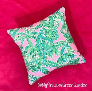 New throw pillow made with LILLY PULITZER Pink Sands Paradise fabric