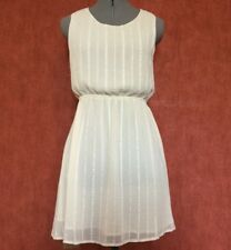 women  party/cocktail lovely dress,size S,ivory colour,low back slit