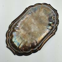Tray Gorham Newport YB 13 Scalloped Fluted Silver Plated Platter